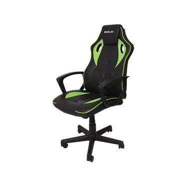 Cadeira Gamer EagleX S1 Verde Com Ajuste de Altura Modo Balanço e Reclinavel