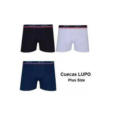 4 Cuecas Lupo Tamanho Plus Boxer Box Plus Size Algodão Até 64 Original Promoção