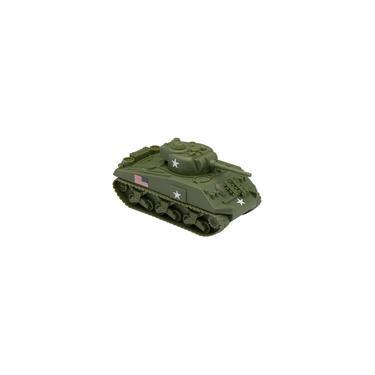 Imagem de Bmc WW2 Tanque Sherman M4 - od Green 1:32 Veículo Militar para Homens do Exército plástico