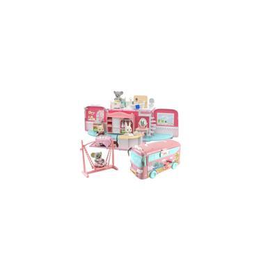 Imagem de Kit onibus Casa De Bonecas Com Escala Princesa Homeplay Barbie Trailer dos Sonhos