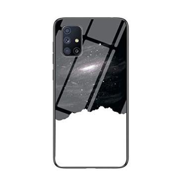 IVY Vidro Temperado Céu Estrelado Capa Case para Samsung M51 Case - F