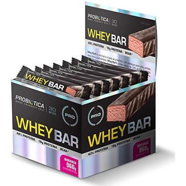 Whey Bar (Caixa 24 Barras) - Probiotica Sabor Morango