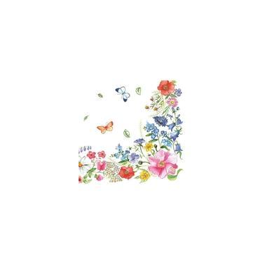 Guardanapo para Decoupage Flores e Borboletas 33X33CM