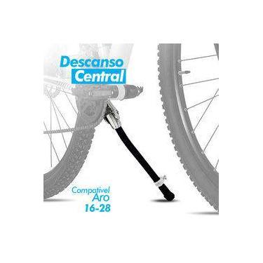 Descanso Central Preto Ajustável P/ Bicicleta 16 A 28