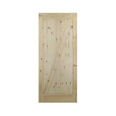 Porta de Celerio De Madeira tipo Correr Interna Modelo Z Goede 81cm x 213 cm Natural
