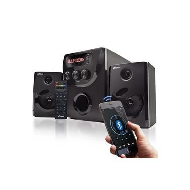 Micro System 2.1 Bluetooth 1000w Pmpo 20w rms Mp3 Fm Pc Bivolt Caixa de Som