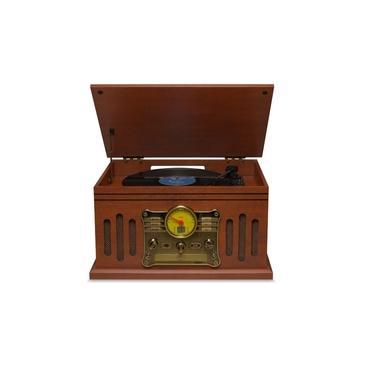 Vitrola Toca Disco e Toca CD Raveo Stadio Bluetooth Radio USB Fita K7