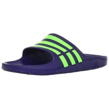 Chinelo Adidas Duramo Slide Cor: PTO/BCO - Tam: 38/9