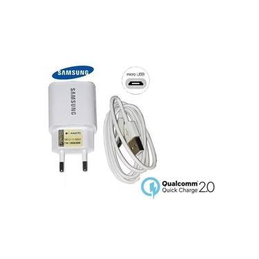 Carregador turbo Samsung Original Quick Charge 2.0 16W Samsung J4 J7 J8 acompanha cabo micro USB