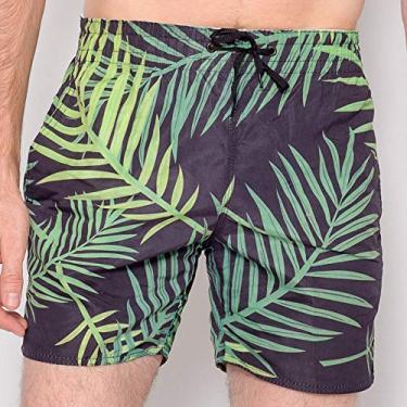 Shorts Masculino Surf Jungle Cor:Estampado;Tamanho:GG