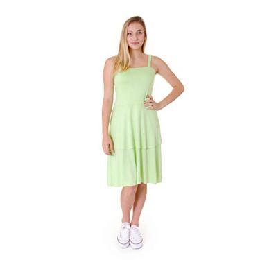 Vestido Operarock Camadas Verde