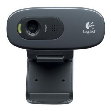 Webcam HD Logitech C270 com Microfone Embutido e 3 MP para Chamadas e Gravações em Vídeo Widescreen