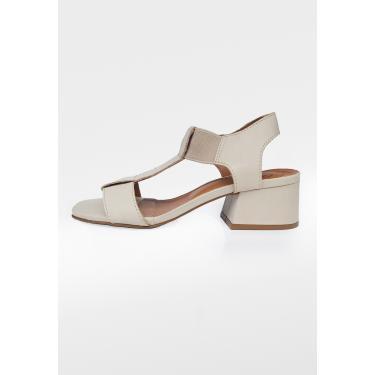 Imagem de Sandália Elástico Scarpan Calçados Finos de Couro - Marfim  feminino