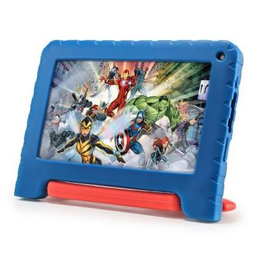Imagem de Tablet Vingadores Tela 7 32GB 1GB RAM Android Multilaser - Azul