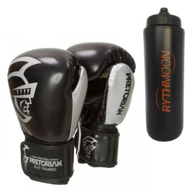 57fa72bf3 Kit Luva de Boxe Pretorian Elite 16OZ Preta + Squeeze Automático 1lt