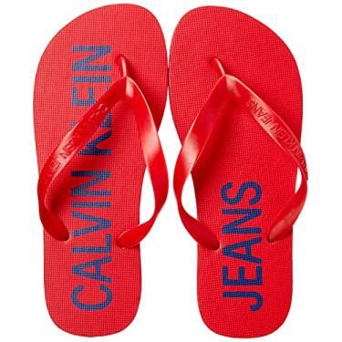 Imagem de Chinelo Logo Deslocado, Calvin Klein, Masculino, Vermelho., 39
