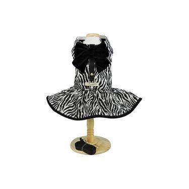 Vestido Bonito pra Cachorro Lady Animal Print Zebra