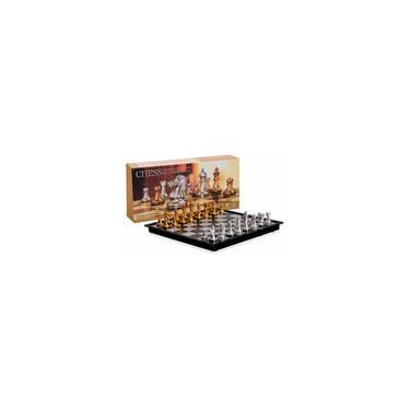 Terno de xadrez magnético com jogo de xadrez dobrável para adultos e crianças