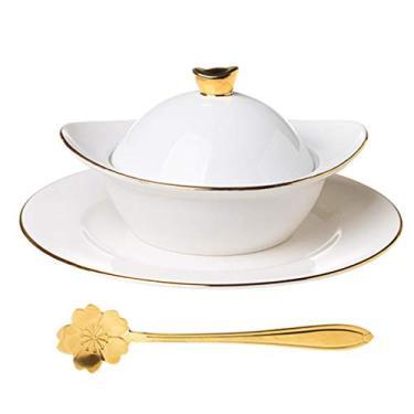 Imagem de Cabilock Tigelas de Cerâmica para Aperitivos Conjunto de Taças de Sobremesa Mini Panela Caçarola de Porcelana Lanche Tigelas Tigelas de Sopa para a Sobremesa E Lanche Tigelas