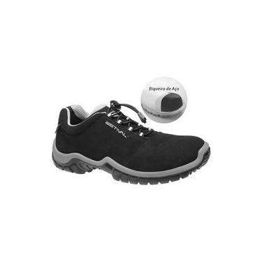 92e0759f38 Sapato de Segurança Microfibra Estival Energy Preto Cinza