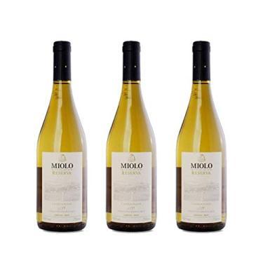 Kit 3x Vinho Branco Brasileiro Miolo Reserva Chardonnay 2017 750ml