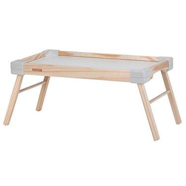 Bandeja com Pés para Café da Manhã/Refeições/Notebook em madeira maciça Branca 47X27cm Small - Tramontina