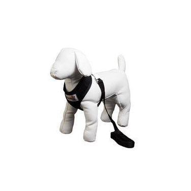 Guia E Peitoral Confort Pequena American Pets - Preto