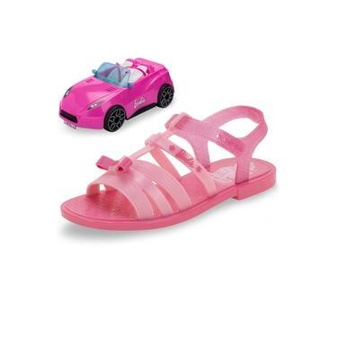 Kit Sandália Barbie + Carro Rosa Grendene Kids - 22166