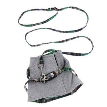 Imagem de Baosity Coleira peitoral para controle de animais de estimação, colete, colete, correia para cães e gatos – adequado para filhotes, cães e gatos para viagens ao ar livre – verde M