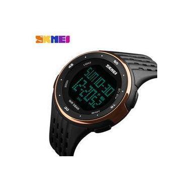 08ebe49693c Relógio Skmei 1219 Fashion Digital Militar Prova D água Rosê Gold
