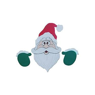 Imagem de Adesivo de janela de carro de Natal, adesivo autoadesivo de carro com tema de Natal, à prova d'água, PVC, decoração de Natal para decoração de carro, janela, vidro, porta, parede