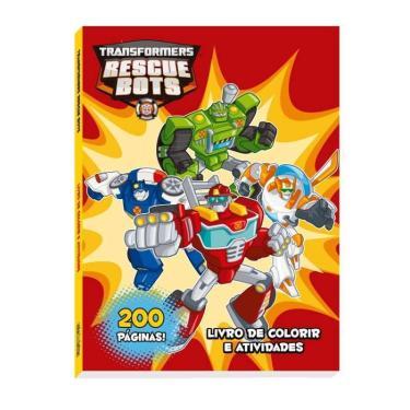 Transformers - Rescue Bots - Livro de Colorir e Atividades - Vale Das Letras - 7898948960103