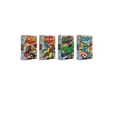 Imagem de Kit 4 Quebra-Cabeças Nano 500 Pçs cada - Marvel Comics - Toyster