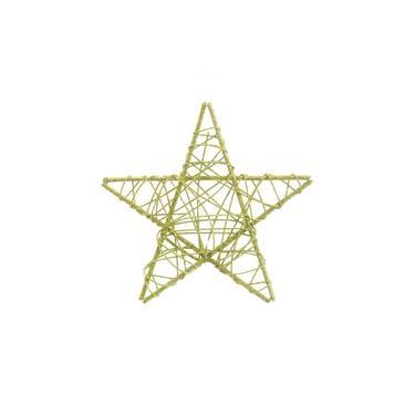 Estrela Decoração Natal 25Cm Cor Verde 1 Unidade Plástico
