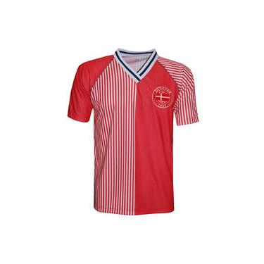 Camisa Liga Retrô Dinamarca 1986 - Poliéster Fit