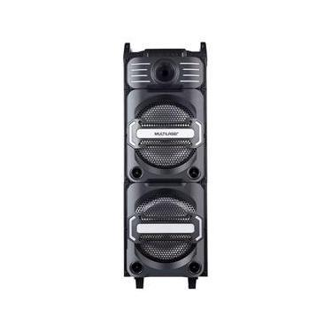 Caixa de Som Torre BT/SD/FM/USB com Funcao DJ Mixer 350W RMS com Microfone,luz de LED, com Bateria Interna
