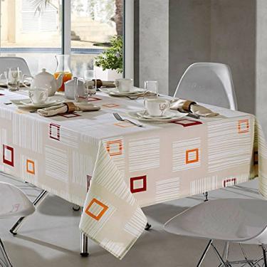 Imagem de Toalha de Mesa Quadrada 4 Lugares Clean Athenas Elidia Döhler