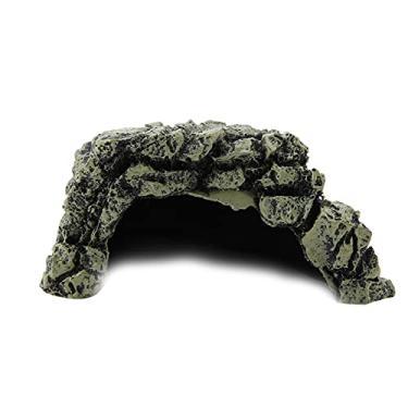 Imagem de BTIHCEUOT Esconde para répteis, decoração de enfeite de esconderijo caverna de esconderijo, 1 peça de caverna para aquário para répteis em casa (DB-025C grande caverna de tartaruga, 12)