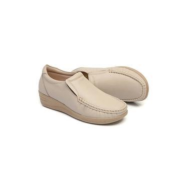 Sapato Feminino Em Couro Cor Marfim