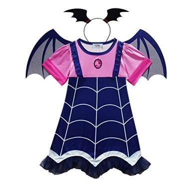 Imagem de Fantasia de Vampirina FANZHOU para meninas, fantasia de Halloween para meninas, vestido de festa infantil, cosplay de Natal, Como na imagem., 140 cm