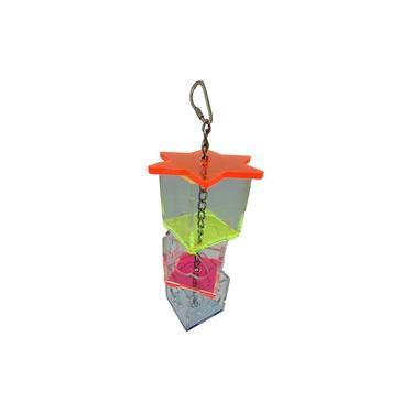 Tidy 3-tier Swing Automático Pássaros Papagaios Forrageamento Titular Caixa Mastigar Brinquedo