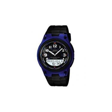 be975af8c0d Relógio Masculino Casio Anadigi - Resistente à Água Cronômetro Mundial AW -80-2BVDF