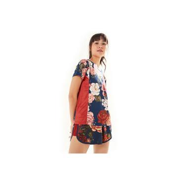 1c1cd4da05a Camiseta Farm Rio Xô Suor Floral Safira - Feminina - AZUL ESCURO Farm Rio