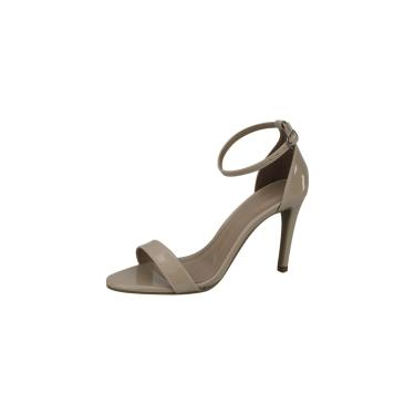 Sandália Salto alto Vendrata Clássico Verniz Amêndoa  feminino