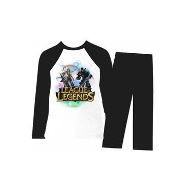 Pijama Infantil League Legends - Longo - Frio - Preto