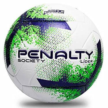 Imagem de Bola de Futebol Society, PENALTY, Lider XXI, Branca, Roxa e Verde, Único