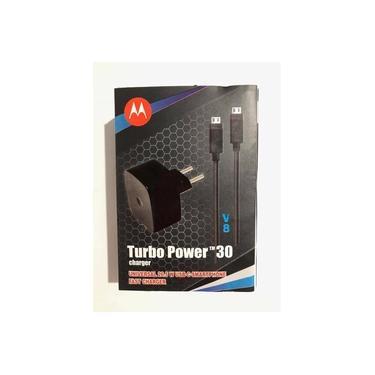 Carregador Fonte Motorola Turbo Power Original 30wts Carregador De Celular Motorola, Lg, Samsung Todos Os Modelos V8