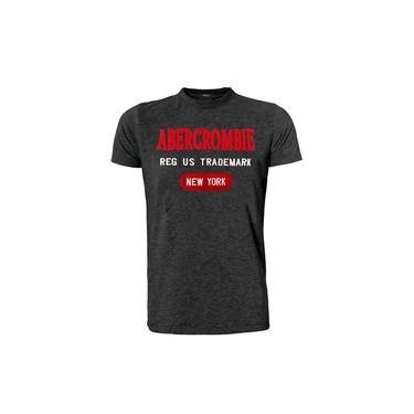 Camiseta Abercrombie & Fitch Masculina Reg Us Red Trademark Chumbo