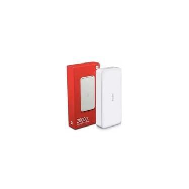 Carregador Portátil 20000mAh Branco Redmi Xiaomi Power Bank