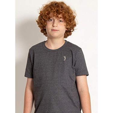 Camiseta Básica Aleatory Kids Lisa Cinza Mescla -Chumbo-4